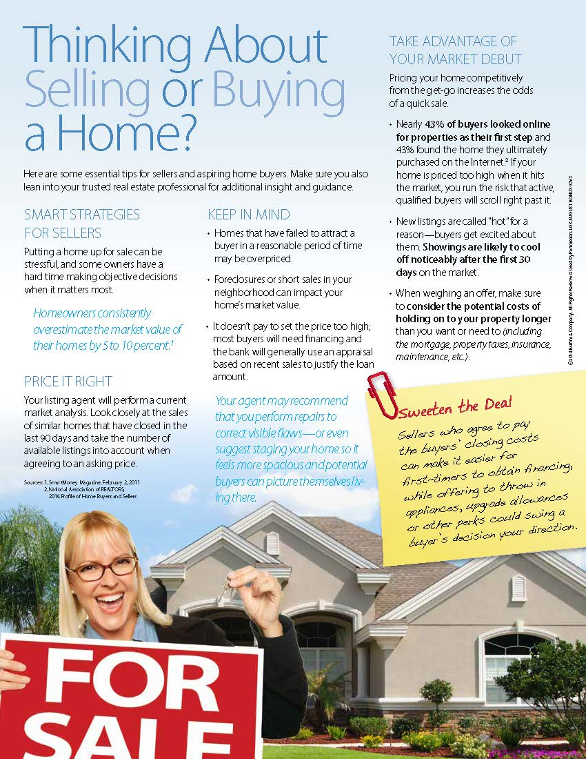 Thinking about Selling or Buying a Home